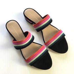 NWOB Loeffler Randall Rubie Striped Slide Sandal